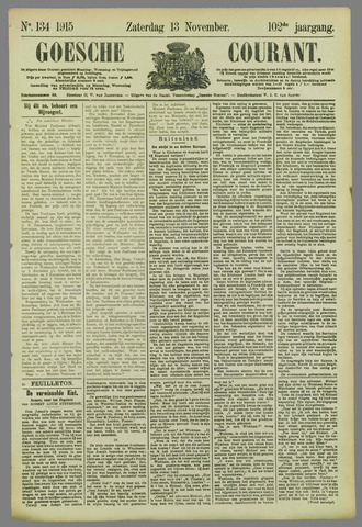 Goessche Courant 1915-11-13