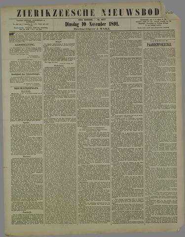Zierikzeesche Nieuwsbode 1891-11-10