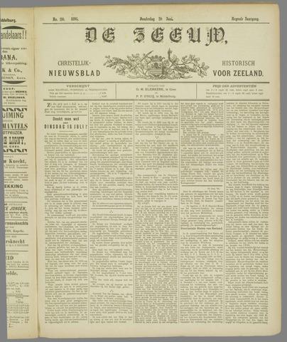 De Zeeuw. Christelijk-historisch nieuwsblad voor Zeeland 1895-06-20