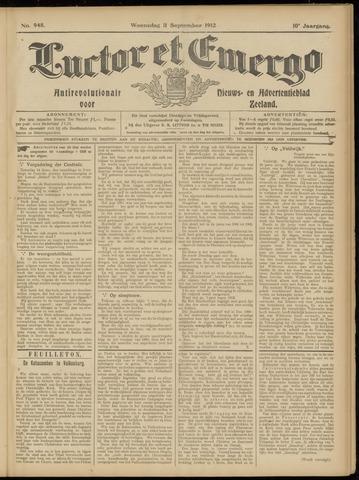 Luctor et Emergo. Antirevolutionair nieuws- en advertentieblad voor Zeeland / Zeeuwsch-Vlaanderen. Orgaan ter verspreiding van de christelijke beginselen in Zeeuwsch-Vlaanderen 1912-09-11