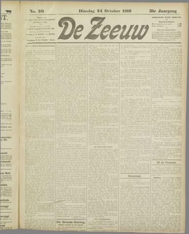 De Zeeuw. Christelijk-historisch nieuwsblad voor Zeeland 1916-10-24