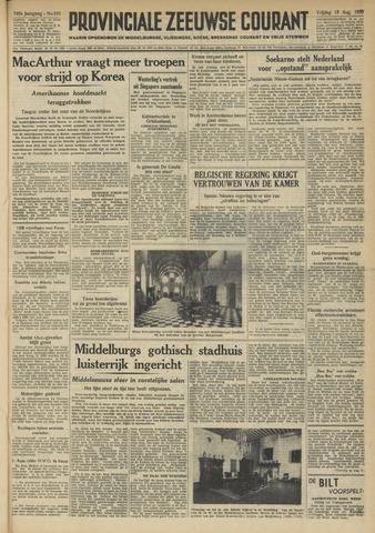 Provinciale Zeeuwse Courant 1950-08-18