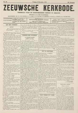 Zeeuwsche kerkbode, weekblad gewijd aan de belangen der gereformeerde kerken/ Zeeuwsch kerkblad 1935-12-13