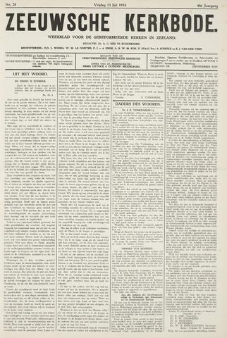 Zeeuwsche kerkbode, weekblad gewijd aan de belangen der gereformeerde kerken/ Zeeuwsch kerkblad 1934-07-13