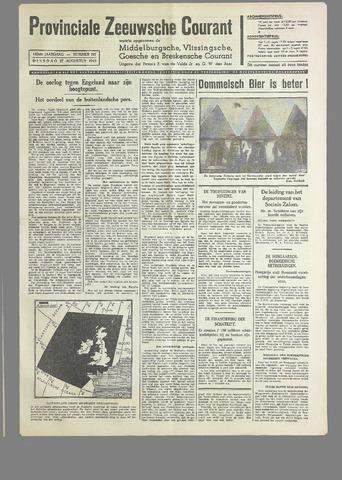 Provinciale Zeeuwse Courant 1940-08-27