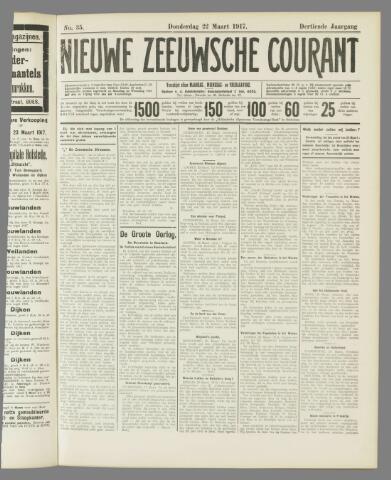 Nieuwe Zeeuwsche Courant 1917-03-22