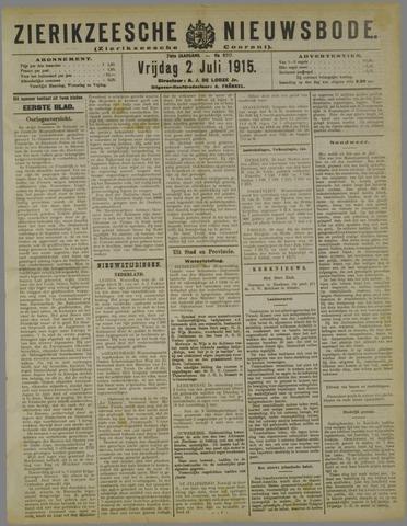 Zierikzeesche Nieuwsbode 1915-07-02