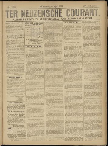 Ter Neuzensche Courant. Algemeen Nieuws- en Advertentieblad voor Zeeuwsch-Vlaanderen / Neuzensche Courant ... (idem) / (Algemeen) nieuws en advertentieblad voor Zeeuwsch-Vlaanderen 1921-04-06