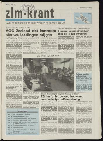 Zeeuwsch landbouwblad ... ZLM land- en tuinbouwblad 1993-07-02