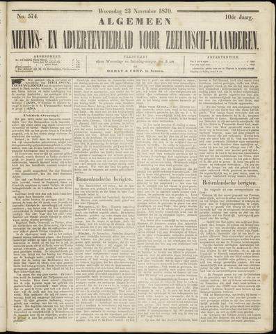 Ter Neuzensche Courant. Algemeen Nieuws- en Advertentieblad voor Zeeuwsch-Vlaanderen / Neuzensche Courant ... (idem) / (Algemeen) nieuws en advertentieblad voor Zeeuwsch-Vlaanderen 1870-11-23