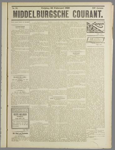 Middelburgsche Courant 1925-02-20