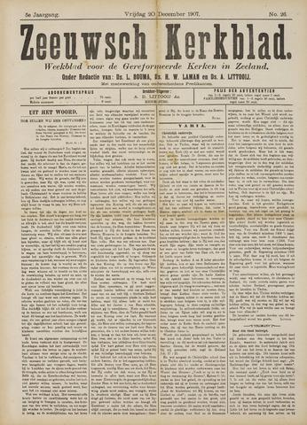 Zeeuwsche kerkbode, weekblad gewijd aan de belangen der gereformeerde kerken/ Zeeuwsch kerkblad 1907-12-20