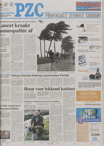Provinciale Zeeuwse Courant 2005-08-27