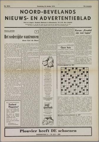 Noord-Bevelands Nieuws- en advertentieblad 1974-10-24