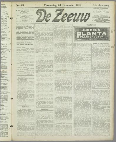 De Zeeuw. Christelijk-historisch nieuwsblad voor Zeeland 1919-12-24