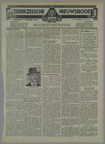 Zierikzeesche Nieuwsbode 1940-10-09