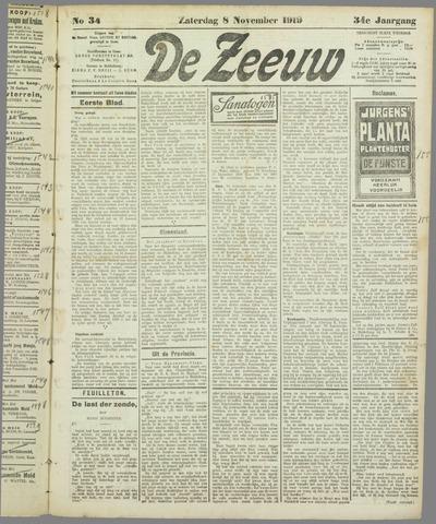 De Zeeuw. Christelijk-historisch nieuwsblad voor Zeeland 1919-11-08