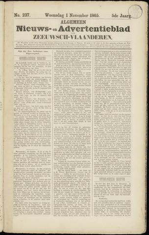 Ter Neuzensche Courant. Algemeen Nieuws- en Advertentieblad voor Zeeuwsch-Vlaanderen / Neuzensche Courant ... (idem) / (Algemeen) nieuws en advertentieblad voor Zeeuwsch-Vlaanderen 1865-11-01