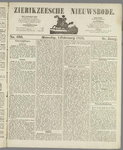 Zierikzeesche Nieuwsbode 1850-02-04