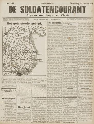 De Soldatencourant. Orgaan voor Leger en Vloot 1916-01-19