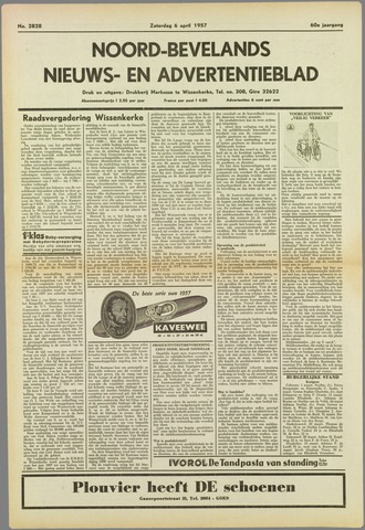 Noord-Bevelands Nieuws- en advertentieblad 1957-04-06
