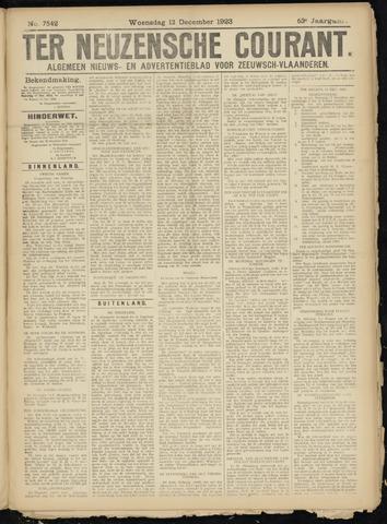 Ter Neuzensche Courant. Algemeen Nieuws- en Advertentieblad voor Zeeuwsch-Vlaanderen / Neuzensche Courant ... (idem) / (Algemeen) nieuws en advertentieblad voor Zeeuwsch-Vlaanderen 1923-12-12