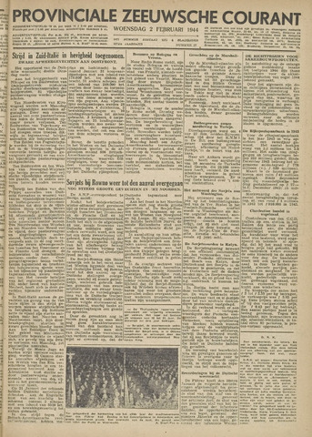 Provinciale Zeeuwse Courant 1944-02-02