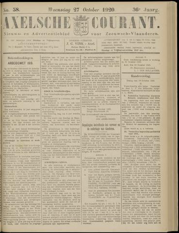 Axelsche Courant 1920-10-27