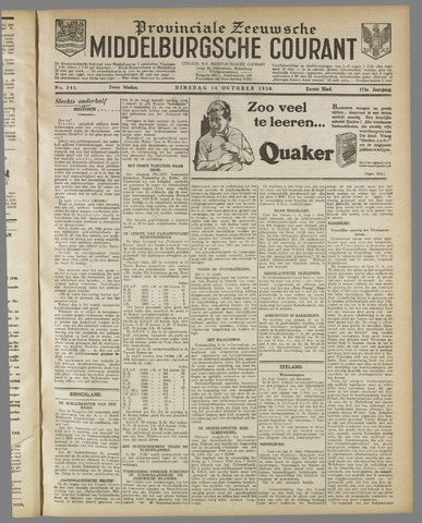 Middelburgsche Courant 1930-10-14