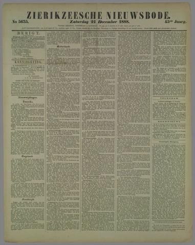 Zierikzeesche Nieuwsbode 1888-12-22