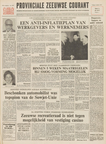 Provinciale Zeeuwse Courant 1971-10-01