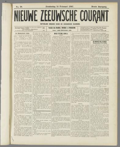 Nieuwe Zeeuwsche Courant 1907-02-14