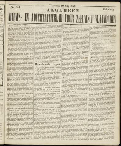 Ter Neuzensche Courant. Algemeen Nieuws- en Advertentieblad voor Zeeuwsch-Vlaanderen / Neuzensche Courant ... (idem) / (Algemeen) nieuws en advertentieblad voor Zeeuwsch-Vlaanderen 1872-07-10