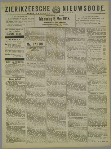 Zierikzeesche Nieuwsbode 1913-05-05