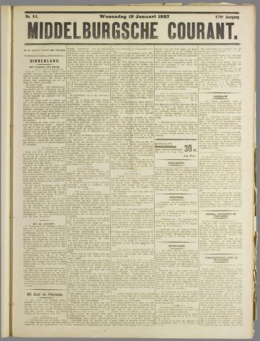 Middelburgsche Courant 1927-01-19