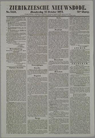 Zierikzeesche Nieuwsbode 1874-10-15