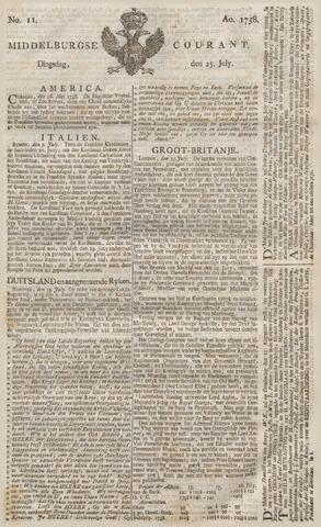 Middelburgsche Courant 1758-07-25