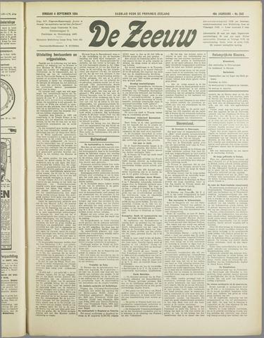 De Zeeuw. Christelijk-historisch nieuwsblad voor Zeeland 1934-09-04