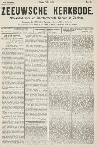 Zeeuwsche kerkbode, weekblad gewijd aan de belangen der gereformeerde kerken/ Zeeuwsch kerkblad 1926-05-07