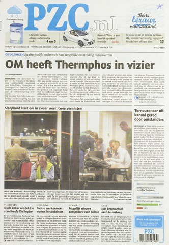 Provinciale Zeeuwse Courant 2010-11-12