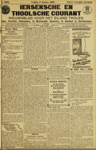 Ierseksche en Thoolsche Courant 1927-10-07