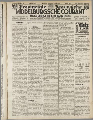 Middelburgsche Courant 1934-04-09