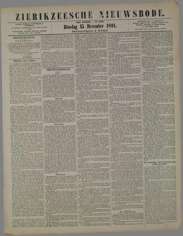 Zierikzeesche Nieuwsbode 1891-12-15