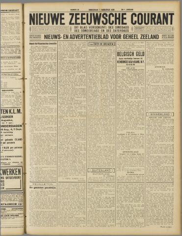 Nieuwe Zeeuwsche Courant 1930-08-07