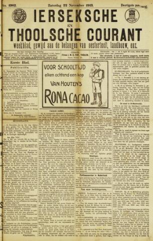 Ierseksche en Thoolsche Courant 1913-11-22