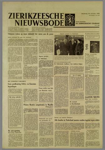 Zierikzeesche Nieuwsbode 1962-11-22