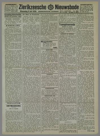 Zierikzeesche Nieuwsbode 1930-07-09