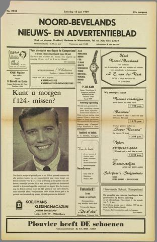 Noord-Bevelands Nieuws- en advertentieblad 1959-06-13