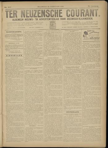 Ter Neuzensche Courant. Algemeen Nieuws- en Advertentieblad voor Zeeuwsch-Vlaanderen / Neuzensche Courant ... (idem) / (Algemeen) nieuws en advertentieblad voor Zeeuwsch-Vlaanderen 1931-02-23