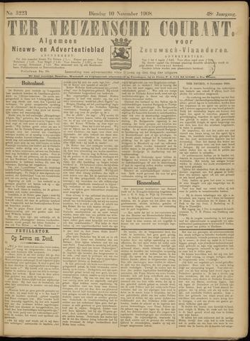 Ter Neuzensche Courant. Algemeen Nieuws- en Advertentieblad voor Zeeuwsch-Vlaanderen / Neuzensche Courant ... (idem) / (Algemeen) nieuws en advertentieblad voor Zeeuwsch-Vlaanderen 1908-11-10